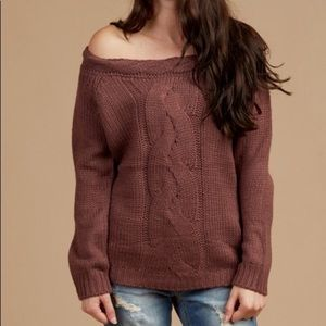 Altar'd State off the shoulder sweater large NWT
